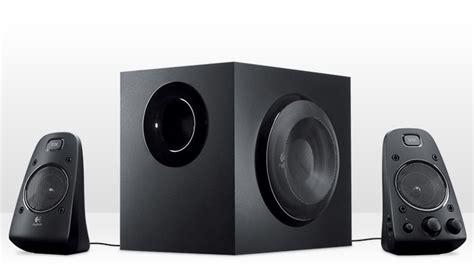 logitech   speaker system  subwoofer thx