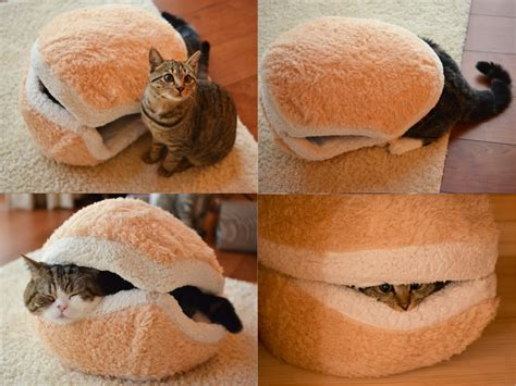 hamburger cat bed cat hamburger bed