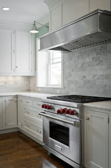 Marble Tile Kitchen Backsplash Marble Subway Tile Backsplash Design Ideas