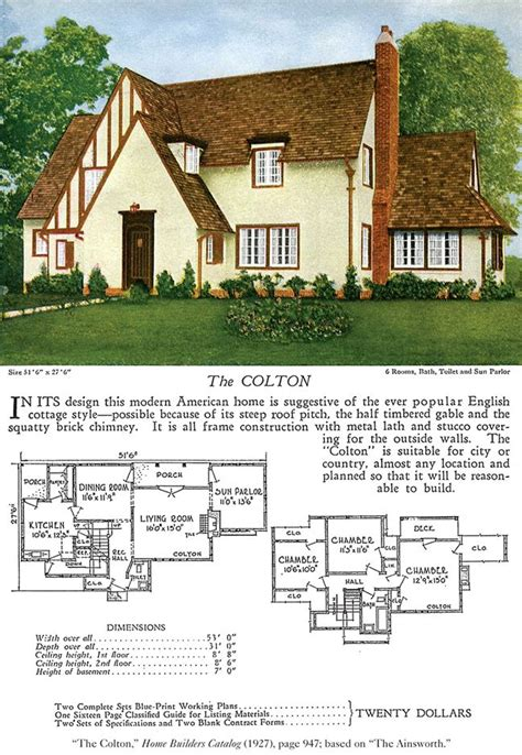 tudor house plans 1920 s 17 best images about tudor cottage style on pinterest