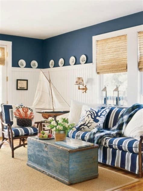coastal home decorating ideas blue beach house living room www imgkid com the image
