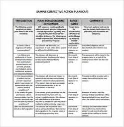 corrective action plan template 13 free sle exle