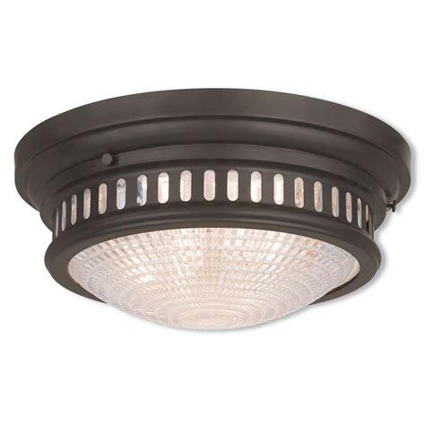 bronze flush mount light livex lighting 3 light bronze flushmount with white