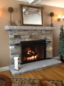 Fireplace Designs With Stone How To Build Stacks Stone Veneer Fireplace Surround Design