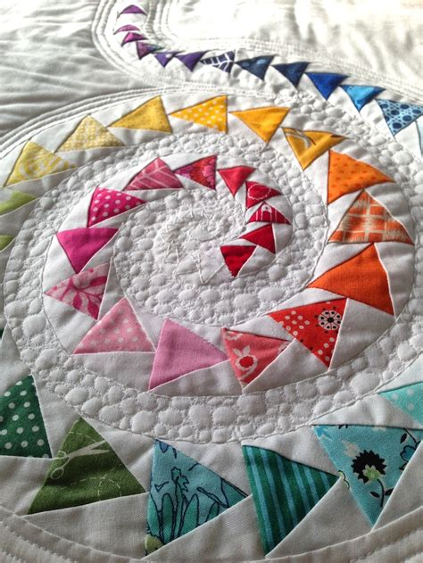 Patchwork Flying Geese - spiral geese mini quilt spiral mini quilts and mini