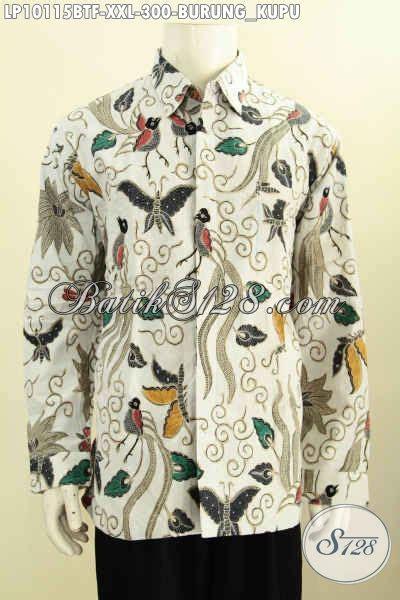 Baju Batik Kombi Burung batik hem pria mewah furing lengan panjang baju