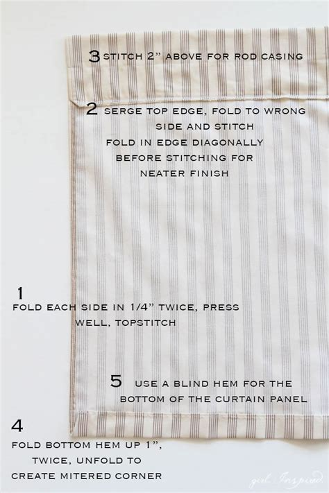 easy curtain tutorial simple curtains sewing tutorial girl inspired