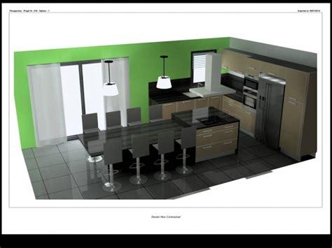 id馥 cr馘ence cuisine pas cher ilot de cuisine avec table cuisine espace vivre avec lot