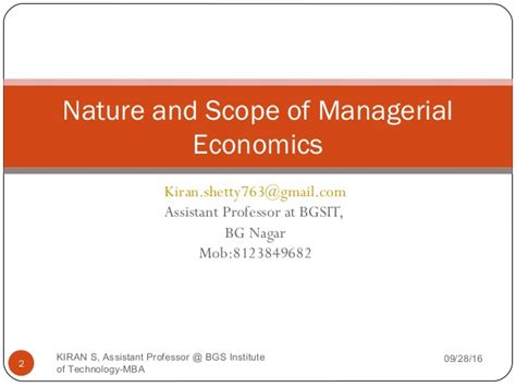 Scope Of Mba After Chemical Engineering by Module 1 Economics For Managers Mba 1st Semester Mba