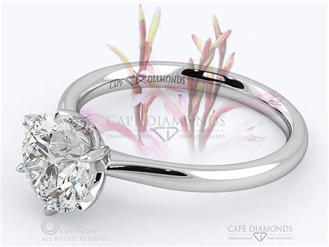 208 the watsonia flower solitaire white gold platinum