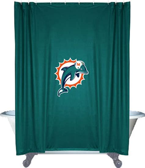 locker room shower curtains nfl miami dolphins football locker room shower curtain