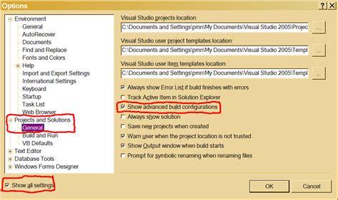 visual studio 2010 reset project settings change target cpu settings in visual studio 2010 express