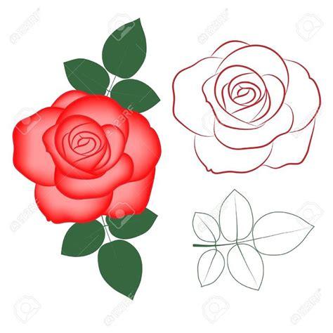 imagenes infantiles rojas 11814678 rosa roja silueta pintada en el color y el vector