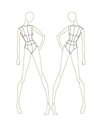 fashion templates for fashion sketch templates thinkitpink