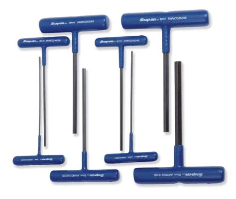 Hex Key Set by Set Wrench Metric T Shape Hex Blue Handle 152 4 Mm