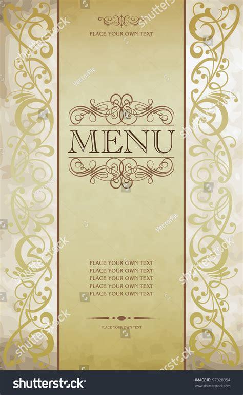 menu cover design vector menu cover vector design 97328354 shutterstock