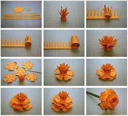 Steps For Paper Flowers - bits of paper more 3d paper flowers