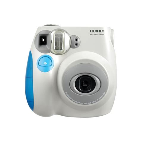 light blue polaroid blue color fujifilm fuji instax mini 7s instant photos