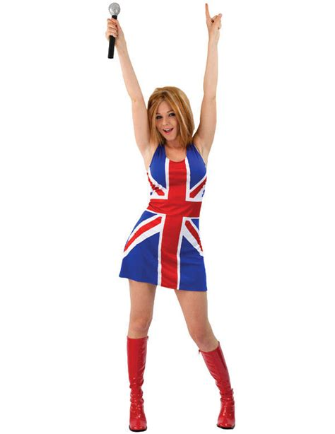 90s fancy dress costumes for girls ladies union jack dress 90s ginger spice girls fancy dress