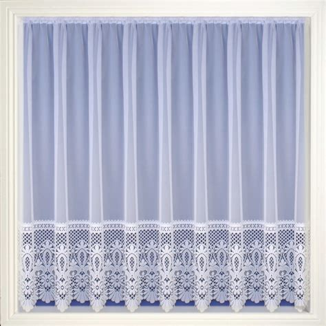 Modern White Sheer Net Curtain Luxury Lace Curtains Nets
