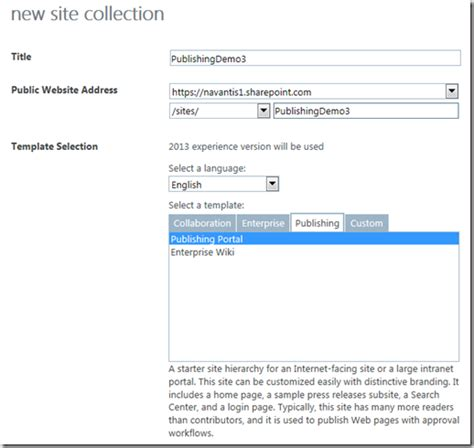 configuring sharepoint 2013 navigation to span site