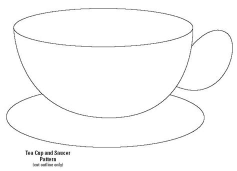 Teacup Template free coloring pages of tea cup template