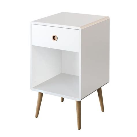 white side table with shelves midcentury open shelf white side table