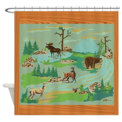 woodland creatures curtains woodland creatures shower curtain by hollycedesigns