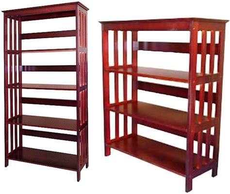 3 or 4 tier bookshelve bookcase wood cherry finish ebay