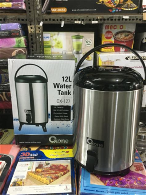 Water Tank Oxone oxone water tank 12lt ox 127 tempat termos minum stainless