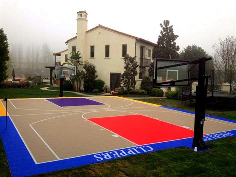 design your own basketball court home southern california