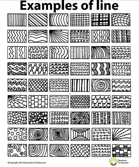 pattern and line worksheets lesson one element of line year 5 2016
