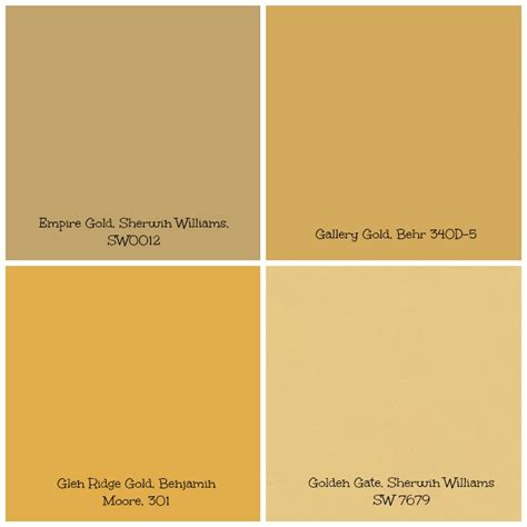 gold paint colors neiltortorella
