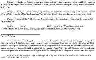 example document for last will amp testament
