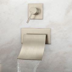 maleko wall mount waterfall tub faucet bathroom ethos iv solid surface modern bathtub 59 black 2 349 on