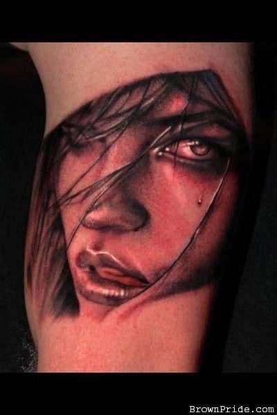 tattoo 3d face 3d face tattoo portrait rata tattoos pinterest