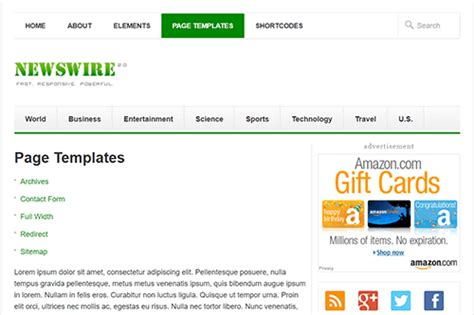 yii layout multiple content newswire wordpress theme theme junkie