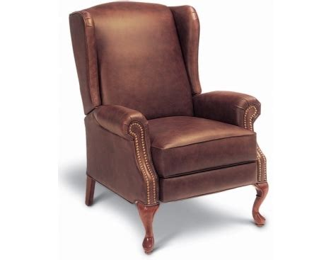 high leg leather recliner by la z boy furniture