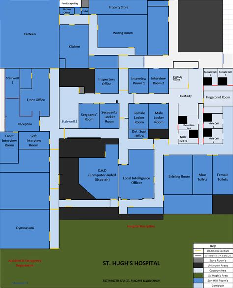 Floor Plans Blueprints Sun Hill Police Station Layout The Bill Itv Police Series