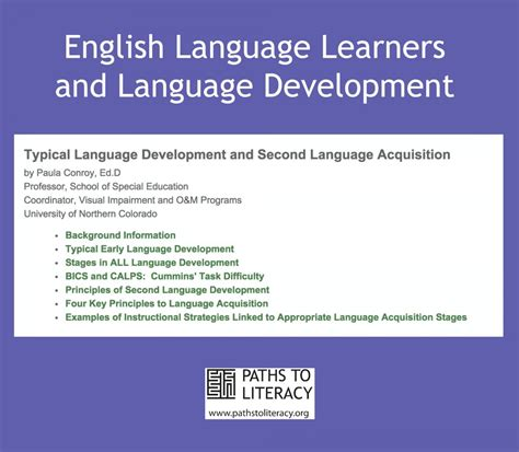 child language acquisition and development books typical language development and second language