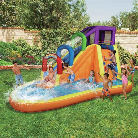 banzai bounce house banzai speed slide water park sears
