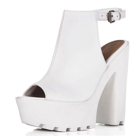 buy jorca block heel cleated sole platform shoes white
