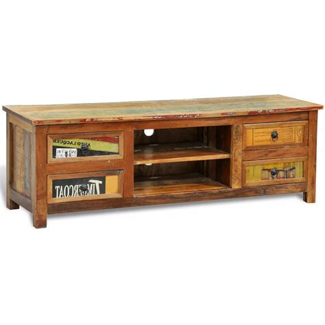tv stand with drawers vidaxl co uk reclaimed wood tv tv stand 4 drawers