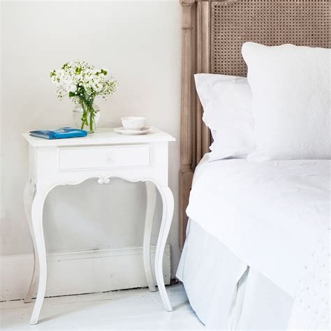 tables for bedrooms provencal white bedside table french bedroom company