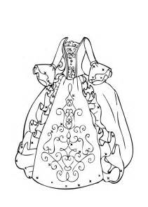 dress coloring pages gown coloring page for printable free
