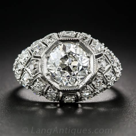 2.45 Carat Art Deco Diamond Ring