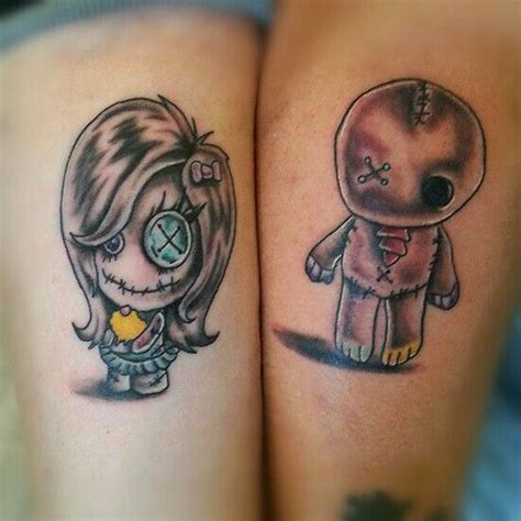 voodoo doll tattoo designs voodoo doll tattoos as matching tattoos for a