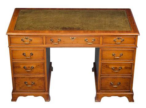 Yew Office Desk Antique Yew Pedestal Desk