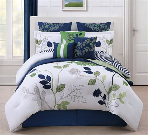 high bedding navy blue and green bedding comforter high quality blue comforter sets vikingwaterford