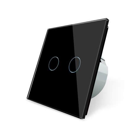 schwarze lichtschalter lichtschalter 2 fach vl c702 12 schwarz touch lichtschalter